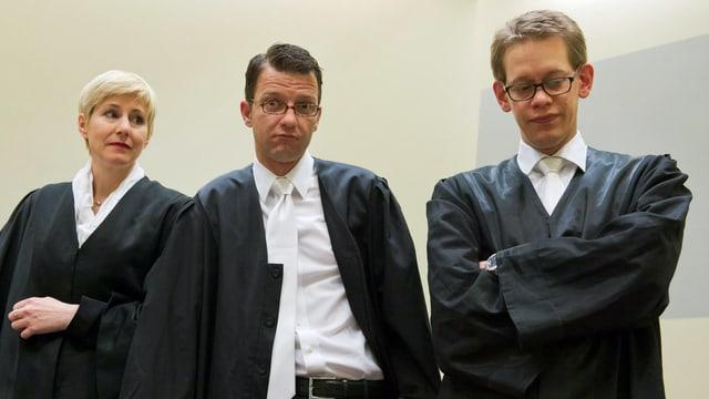 Anja Sturm (links), Wolfgang Stahl (Mitte) und Wolfgang Heer (rechts)