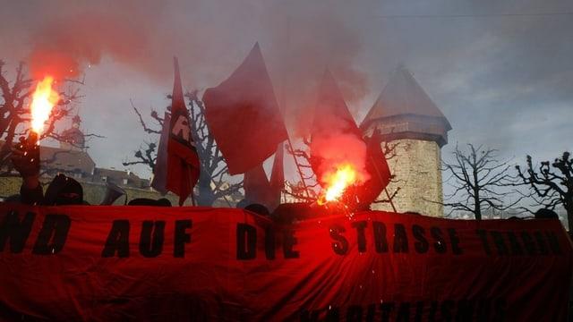 Eine Demo in der Stadt Luzern (Symbolbild)