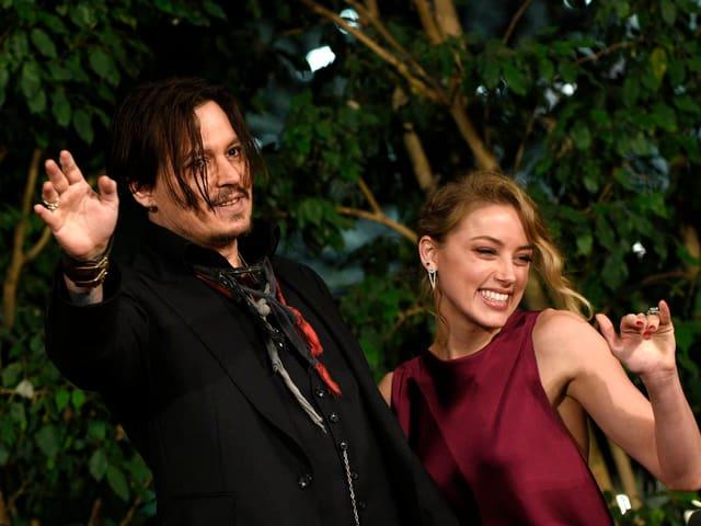 Johnny Depp und Amber Heard.