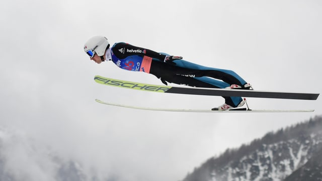 Simon Ammann fliegt in Planica