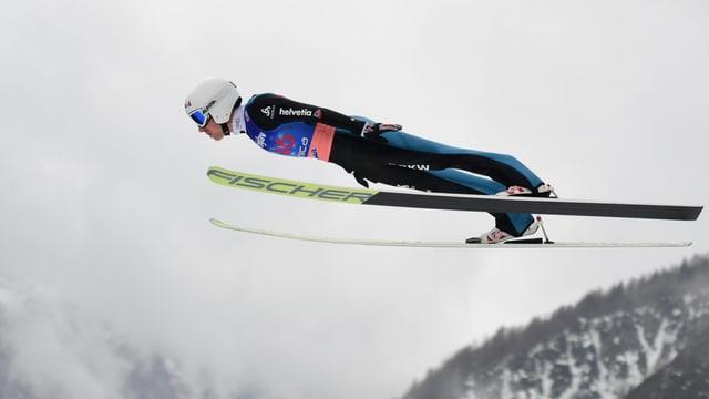 Simon Ammann fliegt in Planica