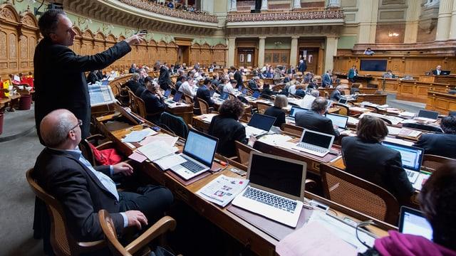Debatta davart il debachel d'informatica INSIEME il december 2014 a Berna.