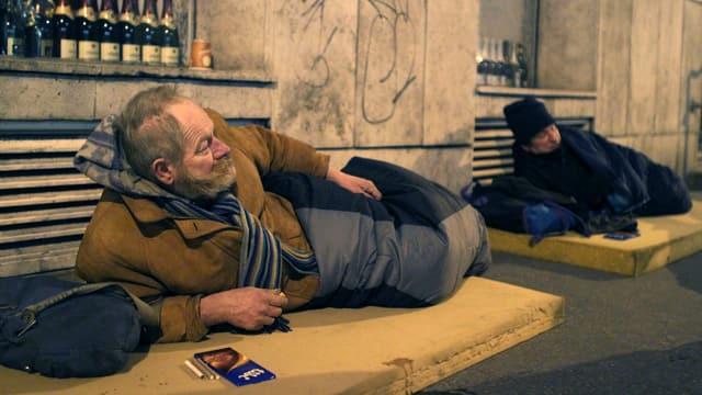 Obdachlose im Zentrum von Budapest.