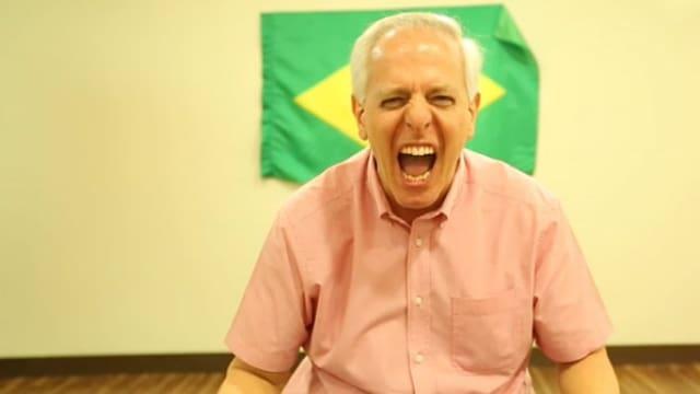 Das Vorbild: Der brasilianische Fussball-Kommentator Milton Leite in Aktion!