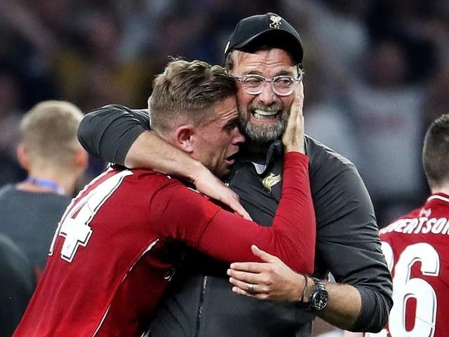 Captain Jordan Henderson und Trainer Jürgen Klopp erwarten eine strenge Saison.