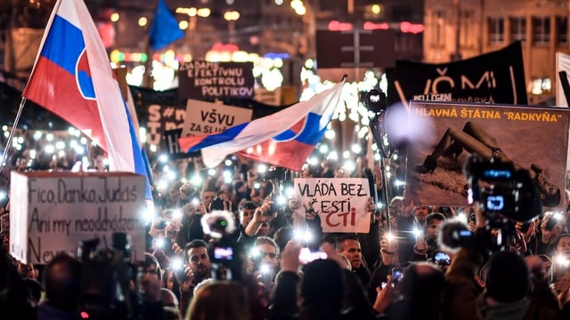 Proteste in der Slowakei