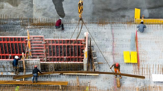 Baustelle in der Schweiz.