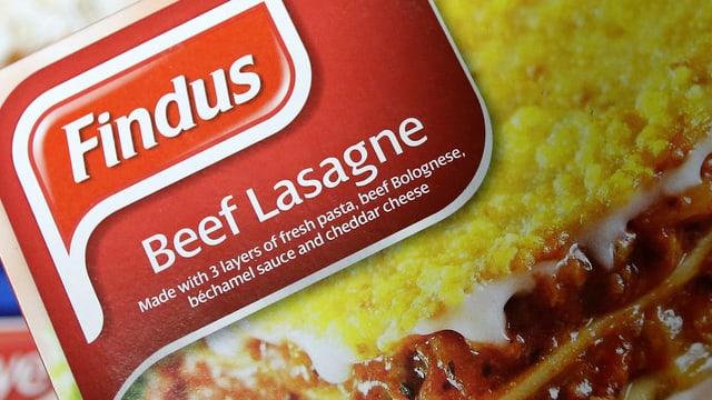 Verpackung einer Tiefkühl-Lasagne