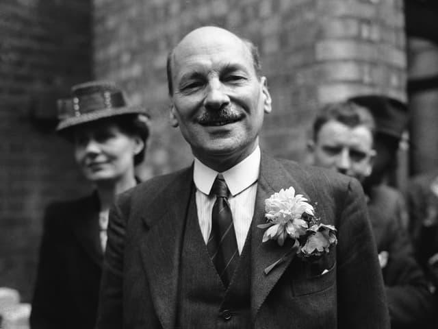 Zu sehen ist Clement Attlee, britischer Premierminister von 1945-51.