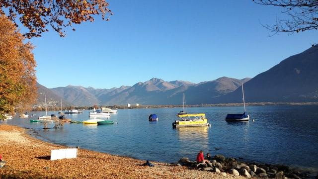 Im Tessin war vor allem der Spätherbst sehr trocken. Der Pegelstand war im November am Lago Maggiore sehr tief.