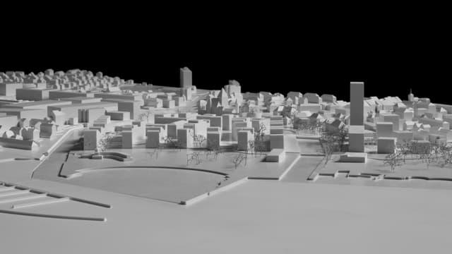 Zu sehen ist eine Seitenansicht des Bauprojekts in Nidau.