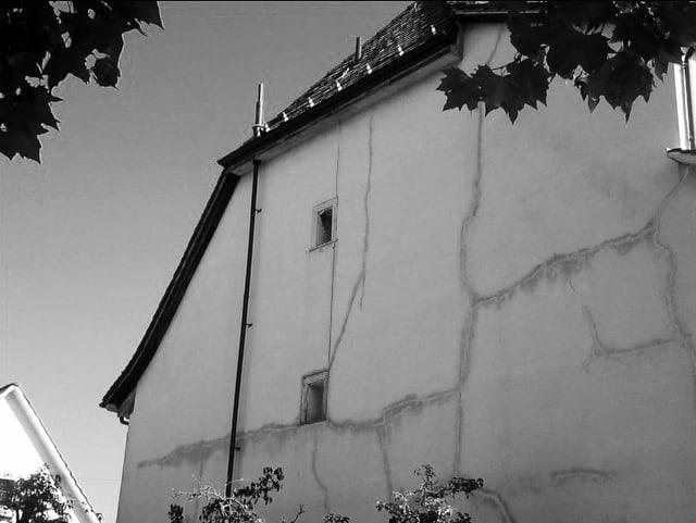 Schwarz weiss Foto eines Hauses
