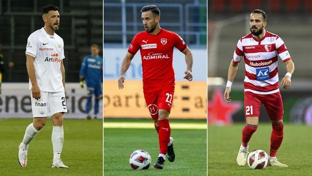 Der FCZ, Vaduz und Sion.