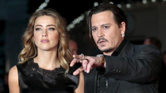 Amber Heard und Johnny Depp.
