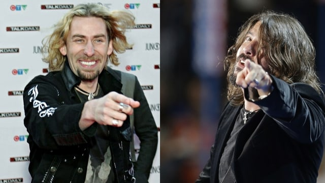 Chad Kroeger (Nickeback) und Dave Grohl (Foo Fighters)