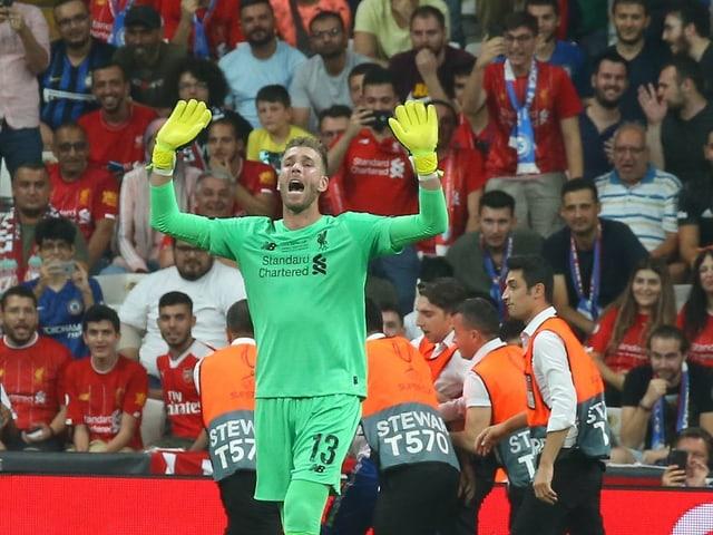 Liverpool-Keeper Adrian.