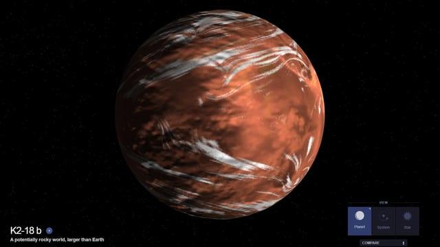 Eine Visualisierung des Planeten.