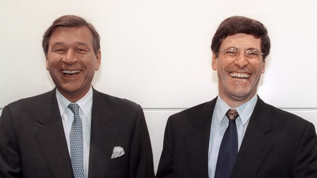 Marcel Ospel und Mathis Cabiallavetta
