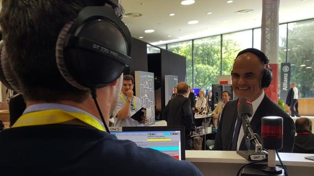 Bundespräsident Alain Berset im Interview mit SRF 3