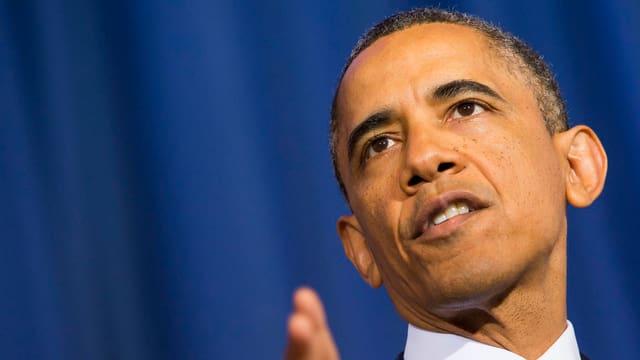 US-Präsident Barack Obama bei seiner Rede in Washington.