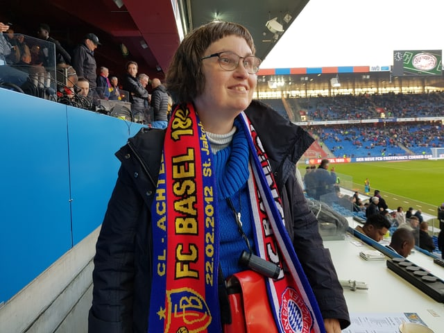 Cathrine Rothschild fiebert mit dem FC Basel.