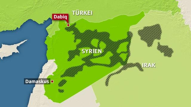 Kartenausschnitt Syrien.