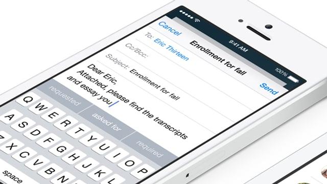 Das neue Benutzer-Interface der iOS-Tastatur.
