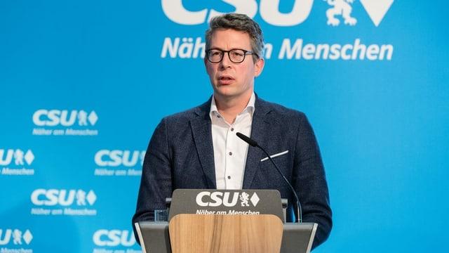 Markus Blume am Rednerpult.