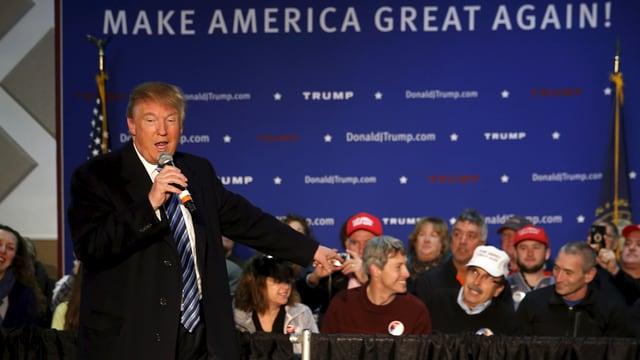 Trump bei einer Rede