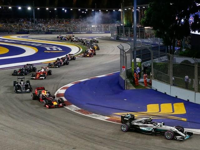 Für Saudi-Arabien ist ab nächster Saison ein Nacht-GP geplant. (Archivbild vom GP Singapur 2016).
