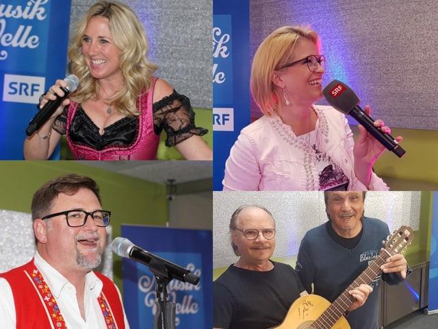 Collage mit allen Schlagersängerinnen und Sängern des Musiktags.