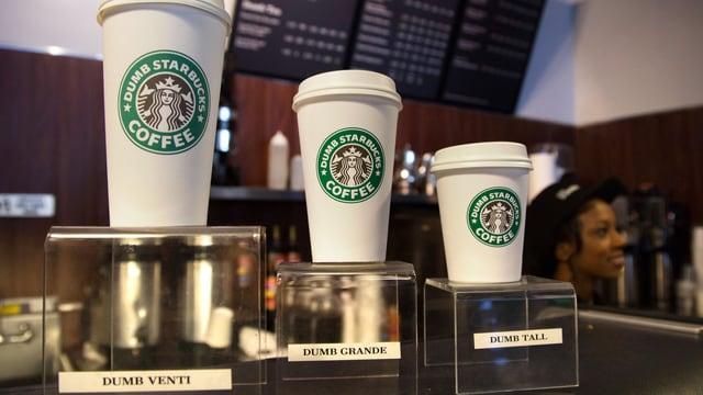 Kaffeeangebot bei Starbucks.