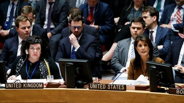 Nikki Haley im Uno-Sicherheitsrat