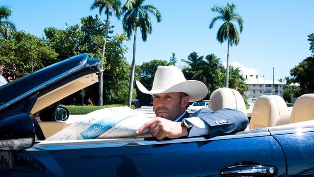 Jason Statham als Parker im Kabrio.
