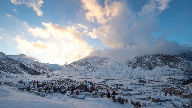 Andermatt im Winter.