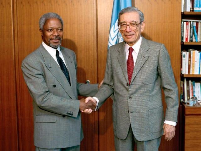 Kofi Annan und Boutros Boutros-Ghali.