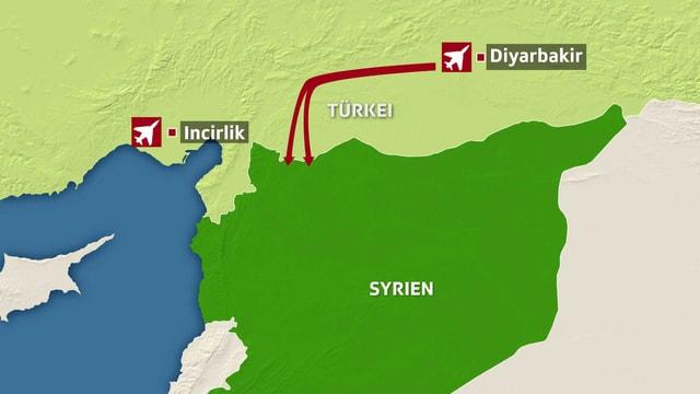 Karte Türkei/Syrien