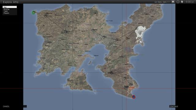 Karte der Route.