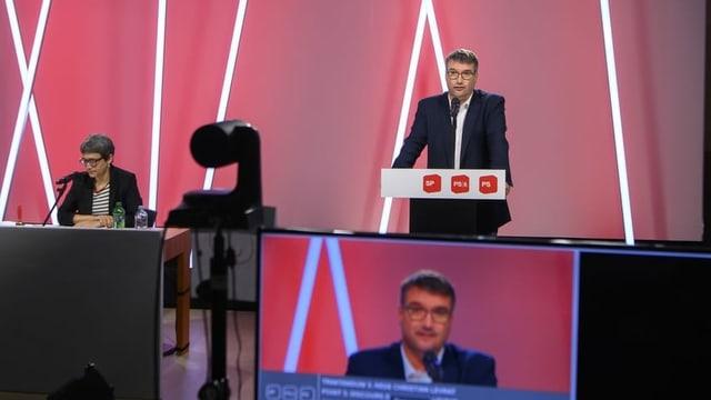 Il president Christian Levrat.