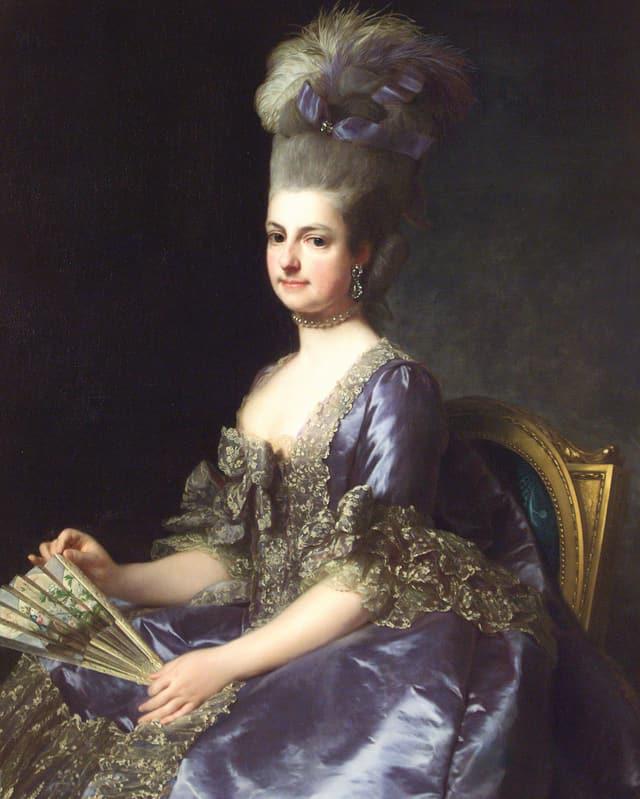 Man sieht ein Porträt von «Erzherzogin Marie Christine» von Alexandre Roslin.