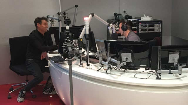 Florian Ast ed Ivo Orlik durant l'intervista en il studio RTR.