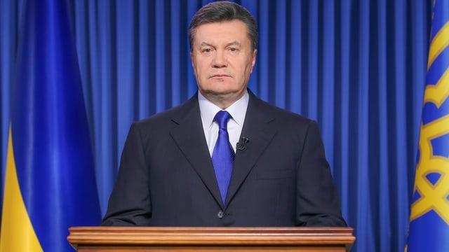 Janukowitsch am Rednerpult.