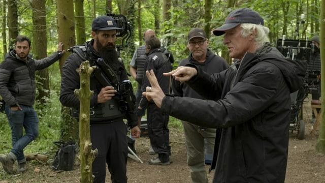 Kameramann Roger Deakins in Aktion.