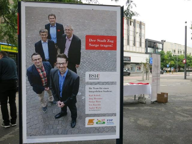 Die fünf bürgerlichen Stadtratskandidaten werden vom überparteilichen Komitee «BS14» unterstützt.
