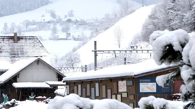 Am 22. Februar schaute der Winter in Wasen im Emmental vorbei.