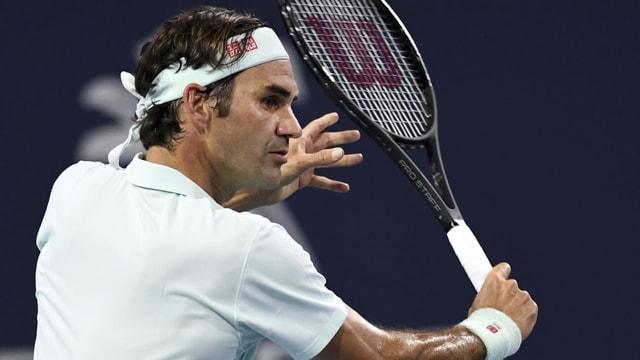 Purtret da Roger Federer.
