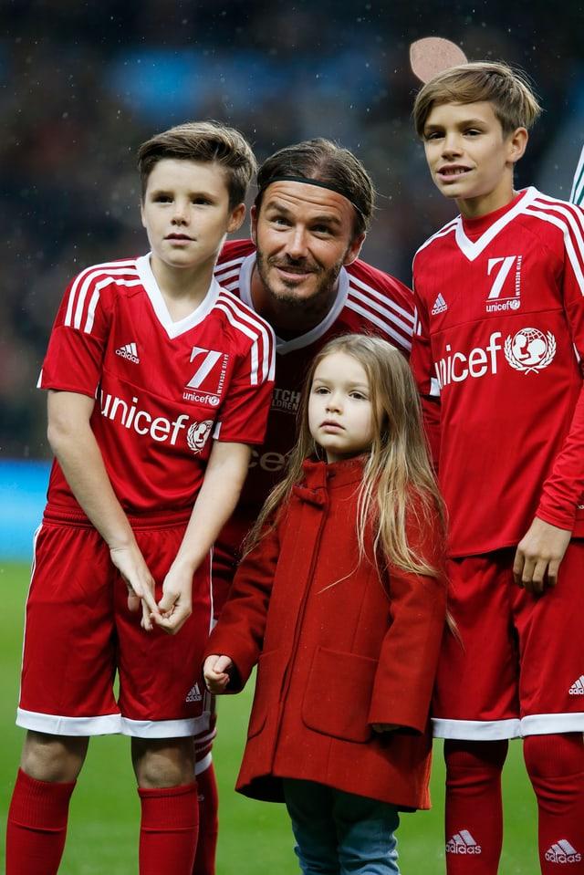 Cruz, David, Harper und Romeo Beckham