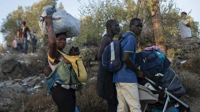 Flüchtlinge auf Lesbos.