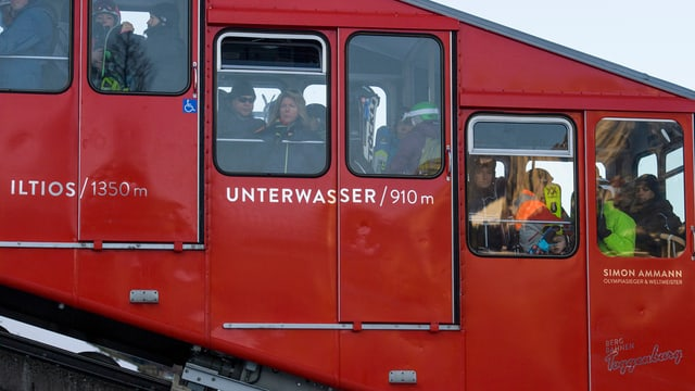 Ein Wagen der Iltios-Bahn.