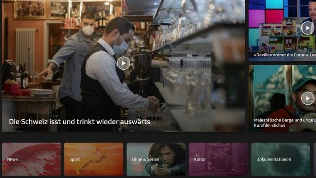 Bildschirmbild vom neuen Layout